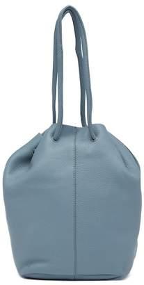 Christopher Kon Pebbled Leather Drawstring Bucket Bag