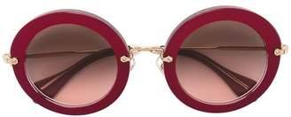 Miu Miu oversize round frame sunglasses