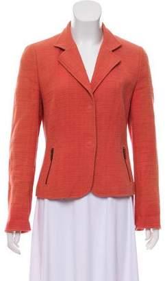 Akris Punto Notch-Lapel Tweed Blazer