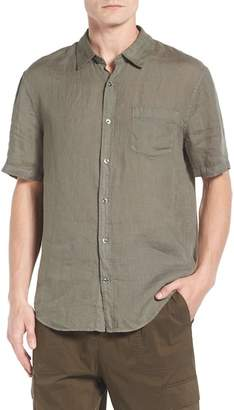 Vince Trim Fit Linen Sport Shirt