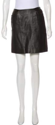 Chanel Leather Skirt Brown Leather Skirt