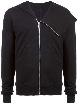 Rick Owens draped shoulder hoodie