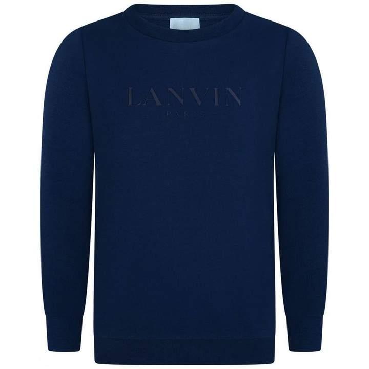LanvinBoys Blue Logo Sweater
