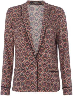 Maison Scotch Pyjamma printed Blazer