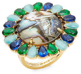 Kate Spade Kate Spade New York Peacock Way Teardrop Trimmed Stone Ring