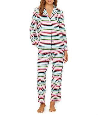 Kate Spade Brushed Twill Flannel Pajama Set, M