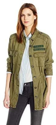 True Religion Women's Military Parka Jacket