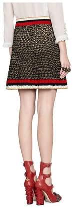 Gucci Lurex blend skirt with Web