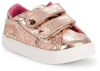 Juicy Couture Baby's & Kid's Metallic Logo Double Strap Sneakers