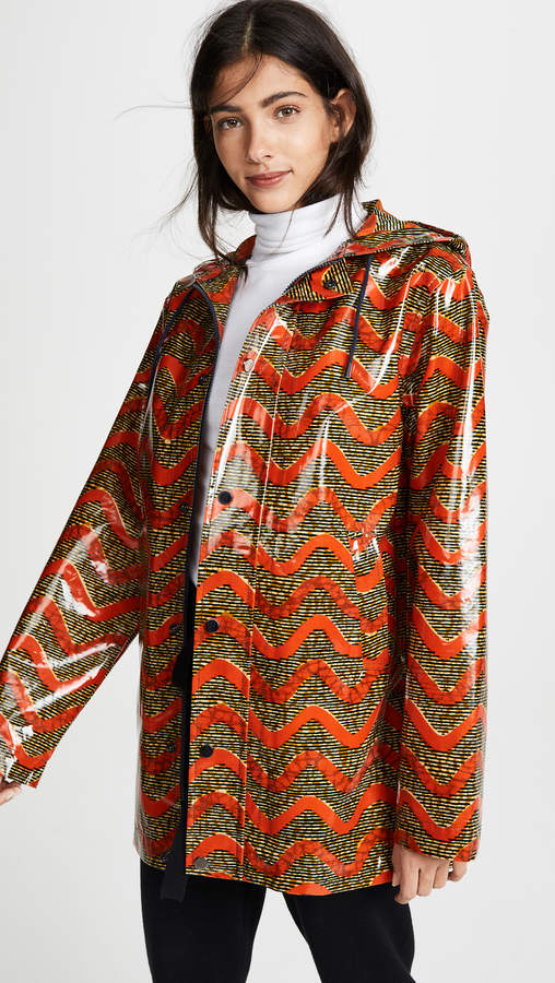 Maison Chateau Rouge Printed Rain Coat
