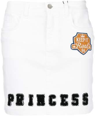 Dolce & Gabbana Princess patch letterman skirt