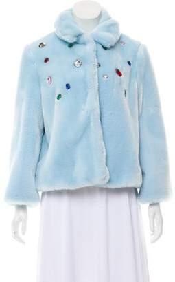 Vivetta Ofride Faux Fur Coat w/ Tags