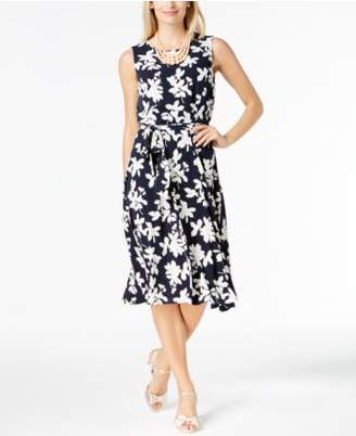 Charter Club Printed Fit & Flare Dress, Created for Macy's