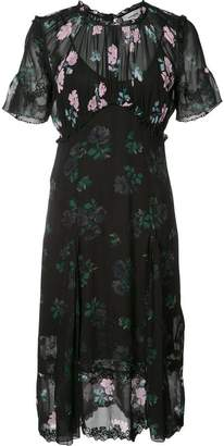 Coach floral detail short sleeve dress
