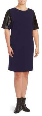 Alexia Admor Plus Short-Sleeve Shift Dress