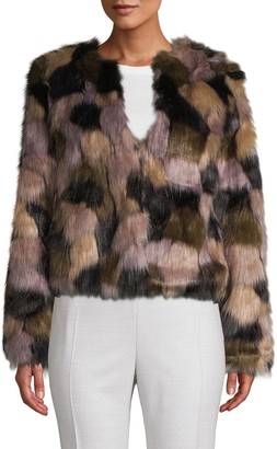 Bagatelle Multicolored Faux Fur Jacket