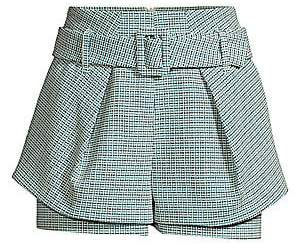 Maje Women's Tiered Belted Tweed Shorts