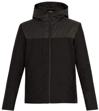 Fendi Printed Padded Down Shell Jacket - Mens - Black