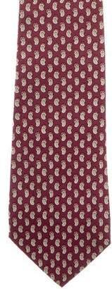Ralph Lauren Purple Label Abstract Print Silk Tie