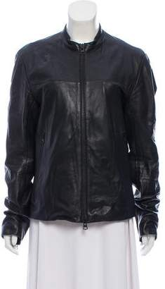 Theory Zip-Up Leather Jacket