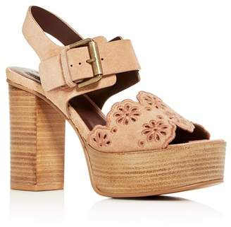 See by Chloe Women's Krysty High Block-Heel Platform Sandals
