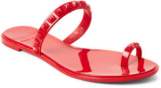 Carmen Sol Red Studded Jelly Sandals