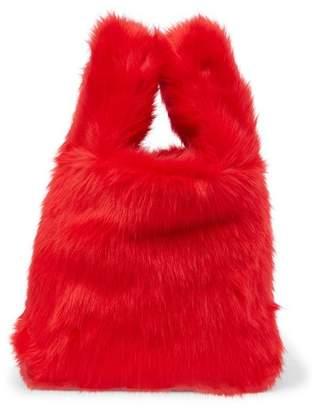 French Connection Elle Faux Fur Wristlet Shopper Bag