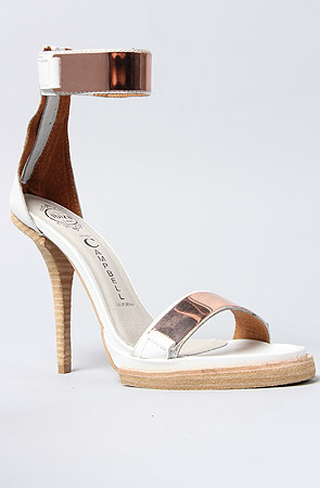 Jeffrey Campbell The Tilda Shoe in White and Rose Gold