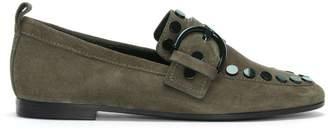 Kennel + Schmenger Kennel & Schmenger Kellett Taupe Suede Studded Loafers