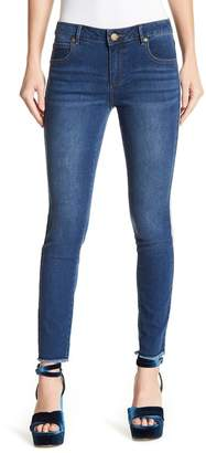 Romeo & Juliet Couture Beaded Trim Skinny Jeans