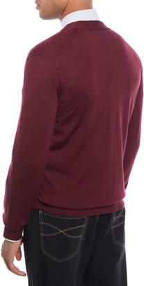 Brunello Cucinelli Men's Fine-Gauge Wool-Blend Cardigan