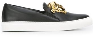 Versace Medusa slip-on sneakers $779.71 thestylecure.com