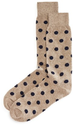 The Men's Store at Bloomingdale's Cashmere-Blend Dot Socks - 100% Exclusive $30 thestylecure.com