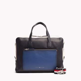 Tommy Hilfiger Colorblock Leather Computer Bag