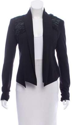 Madison Marcus Tailored Feather-Trimmed Jacket
