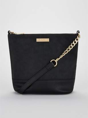 Carvela Rich Suedette Cross Body Bag - Black