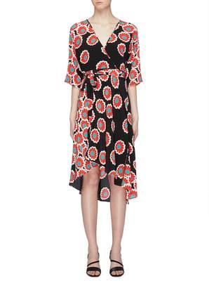 Diane von Furstenberg 'Eloise' floral print silk wrap dress