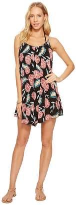 Roxy Windy Fly Away Print Dress Cover-Up Women's Swimwear