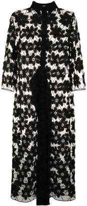 D-Exterior D.Exterior floral embroidered sheer coat