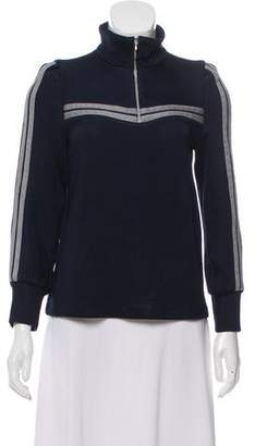 BA&SH Mock Neck Zip-Up Sweater