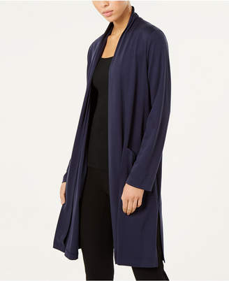 Eileen Fisher Tencel Stretch Open-Front Cardigan, Regular & Petite