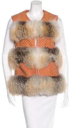 Thomas Wylde Embellished Leather Vest