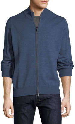 Neiman Marcus Men's Full Zip Long-Sleeve Cardigan