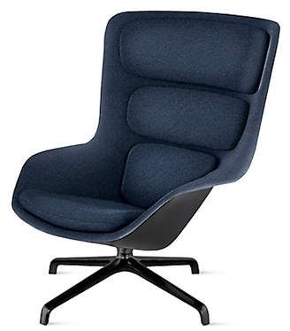 Design Within Reach Herman Miller Striad Lounge Chair, High Back, Heathered Twilight/black Shell at DWR