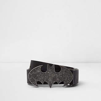 River Island Boys black Batman pin and hole belt