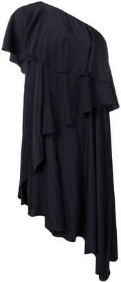 Lanvin asymmetric ruffle trim dress