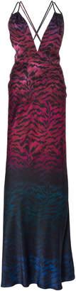 Saloni Elektra Silk-Satin Gown