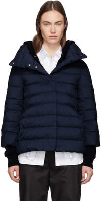 Herno Navy Down Cocoon Jacket
