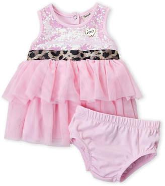Juicy Couture Newborn Girls) Two-Piece Sequin Tutu Dress & Bloomers Set