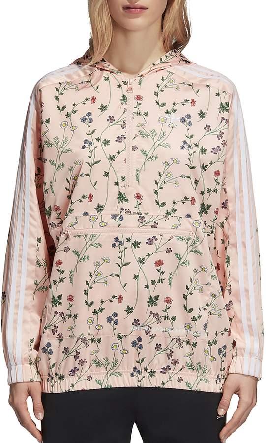 Floral Print Windbreaker Jacket